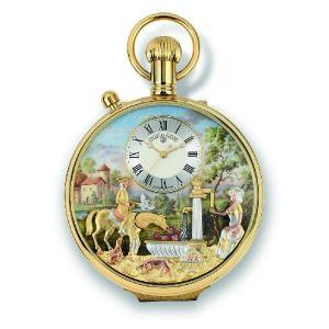 リュージュオルゴール からくりオルゴール付き懐中時計 17弁1曲 i-matsumoto