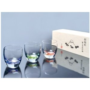 東洋佐々木ガラス 祝福杯 富士見松竹梅 杯3種揃え|i-matsumoto