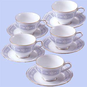 ノリタケ 食器  レースウッドゴールド ティー・コーヒー碗皿5客セット|i-matsumoto