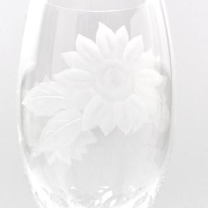 大倉陶園×カガミクリスタル 12カ月グラス 8月ピルスナーグラス 向日葵 i-matsumoto 03