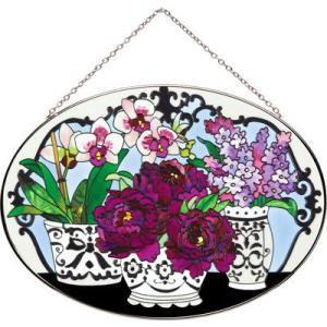 JOAN BAKER  サンキャッチャー L楕円型 花と花瓶|i-matsumoto