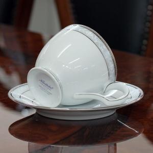 ノリタケ 食器 ハンプシャープラチナ ティー・コーヒー碗皿ペア|i-matsumoto|02