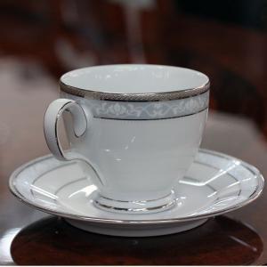ノリタケ 食器 ハンプシャープラチナ ティー・コーヒー碗皿ペア|i-matsumoto|03