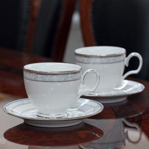 ノリタケ 食器 ハンプシャープラチナ ティー・コーヒー碗皿ペア|i-matsumoto|04