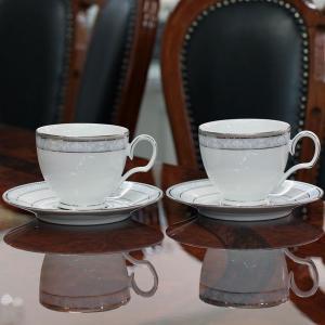 ノリタケ 食器 ハンプシャープラチナ ティー・コーヒー碗皿ペア|i-matsumoto|05