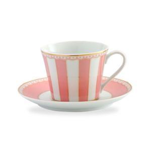 ノリタケ食器 カーニバル ティー・コーヒー碗皿 ピンク|i-matsumoto