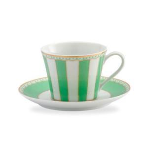 ノリタケ食器 カーニバル ティー・コーヒー碗皿 アップルグリーン|i-matsumoto