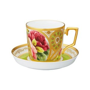 ノリタケ NORITAKE オマージュ コレクション コーヒー碗皿(若草色絵薔薇文)|i-matsumoto