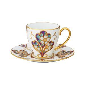 ノリタケ NORITAKE オマージュ コレクション コーヒー碗皿(雲母金彩花文)|i-matsumoto