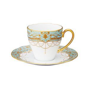 ノリタケ NORITAKE オマージュ コレクション コーヒー碗皿(藍白絵唐草文)|i-matsumoto