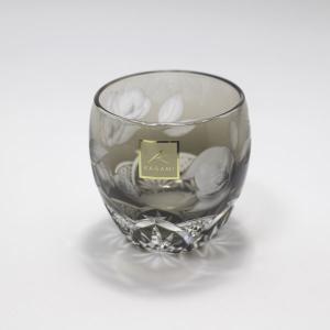 大倉陶園×カガミクリスタル 12カ月グラス 2月冷酒杯 椿|i-matsumoto