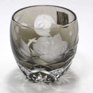 大倉陶園×カガミクリスタル 12カ月グラス 2月冷酒杯 椿|i-matsumoto|03