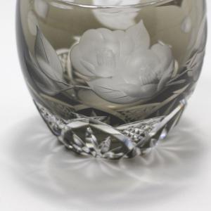 大倉陶園×カガミクリスタル 12カ月グラス 2月冷酒杯 椿|i-matsumoto|04