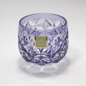 大倉陶園×カガミクリスタル 12カ月グラス 6月冷酒杯 紫陽花|i-matsumoto