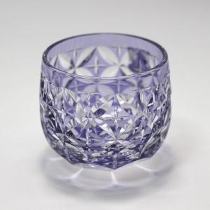 大倉陶園×カガミクリスタル 12カ月グラス 6月冷酒杯 紫陽花|i-matsumoto|02