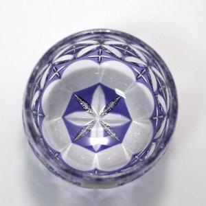 大倉陶園×カガミクリスタル 12カ月グラス 6月冷酒杯 紫陽花|i-matsumoto|03