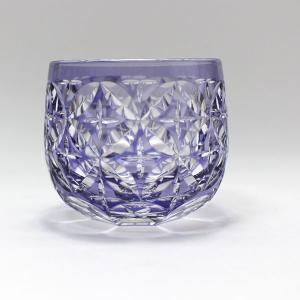大倉陶園×カガミクリスタル 12カ月グラス 6月冷酒杯 紫陽花|i-matsumoto|04