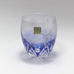 大倉陶園×カガミクリスタル 12カ月グラス 12月ロックグラス 雪うさぎ|i-matsumoto