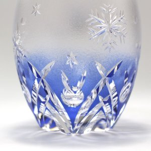 大倉陶園×カガミクリスタル 12カ月グラス 12月ロックグラス 雪うさぎ|i-matsumoto|03