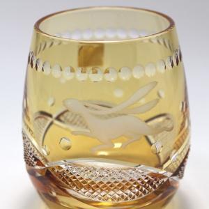 大倉陶園×カガミクリスタル 12カ月グラス 9月ロックグラス 月うさぎ|i-matsumoto|03