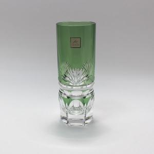大倉陶園×カガミクリスタル 12カ月グラス 7月ロングタンブラー 若竹|i-matsumoto