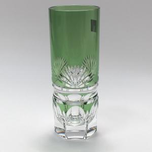 大倉陶園×カガミクリスタル 12カ月グラス 7月ロングタンブラー 若竹|i-matsumoto|02
