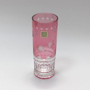 大倉陶園×カガミクリスタル 12カ月グラス 10月ロングタンブラー 紅葉 i-matsumoto
