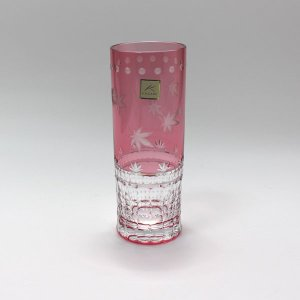 大倉陶園×カガミクリスタル 12カ月グラス 10月ロングタンブラー 紅葉 i-matsumoto 02