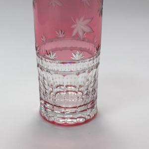 大倉陶園×カガミクリスタル 12カ月グラス 10月ロングタンブラー 紅葉 i-matsumoto 05