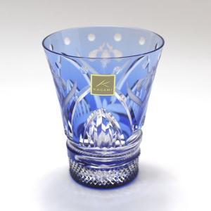 大倉陶園×カガミクリスタル 12カ月グラス 5月冷酒杯 杜若(カキツバタ)|i-matsumoto