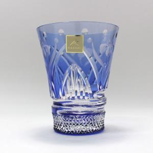 大倉陶園×カガミクリスタル 12カ月グラス 5月冷酒杯 杜若(カキツバタ)|i-matsumoto|05