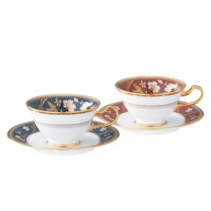 ノリタケ 食器 サブライム ティー・コーヒー碗皿ペア(鉄紺・海老茶)|i-matsumoto