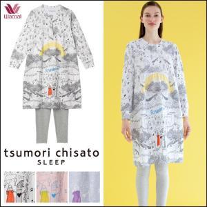 パジャマ ツモリチサト ワコール レディース tsumori chisato SLEEP ドロシー線画 ワンピース+ズボン UDO113 送料無料|i-may