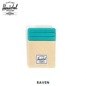 ハーシェル カードケース 正規販売店 Herschel Supply ハーシェルサプライ 10048-00016-OS Raven Khaki/Teal カードホルダー|i-mixon