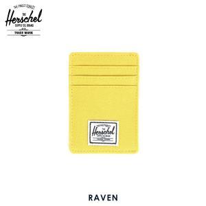 ハーシェル カードケース 正規販売店 Herschel Supply ハーシェルサプライ 10048-00023-OS Raven Lime Punch カードホルダー|i-mixon