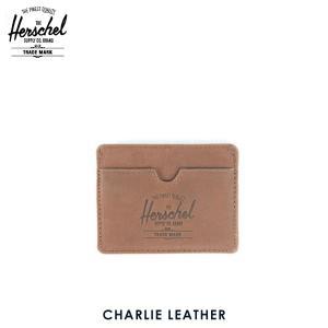 ハーシェル カードケース 正規販売店 Herschel Supply ハーシェルサプライ 10045-00037-OS Charlie Leather Brown Nubuck レザーカードホルダー|i-mixon