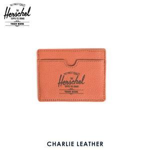 ハーシェル カードケース 正規販売店 Herschel Supply ハーシェルサプライ 10045-00035-OS Charlie Leather Camper Orange Pebble Leather|i-mixon