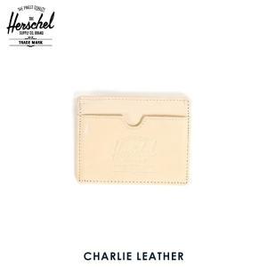 ハーシェル カードケース 正規販売店 Herschel Supply ハーシェルサプライ 10045-00038-OS Charlie Leather Natural Nubuck レザーカードホルダー|i-mixon
