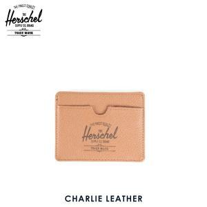 ハーシェル カードケース 正規販売店 Herschel Supply ハーシェルサプライ 10045-00034-OS Charlie Leather Tan Pebble Leather レザーカードホルダー|i-mixon