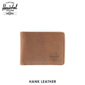 ハーシェル 財布 正規販売店 Herschel Supply ハーシェルサプライ ウォレット 10049-00037-OS Hank Leather Brown Nubuck 財布 レザー|i-mixon