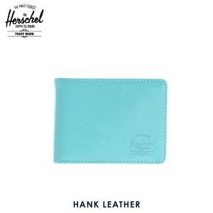 ハーシェル 財布 正規販売店 Herschel Supply ハーシェルサプライ ウォレット 10049-00036-OS Hank Leather Teal Pebble Leather 財布 レザー|i-mixon