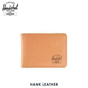 ハーシェル 財布 正規販売店 Herschel Supply ハーシェルサプライ ウォレット 10049-00034-OS Hank Leather Tan Pebble Leather 財布 レザー|i-mixon