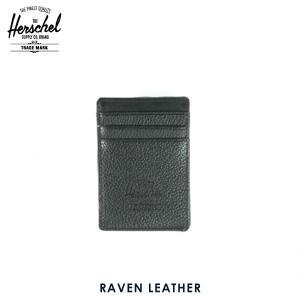 ハーシェル サプライ Herschel Supply 正規販売店 10048-00004-OS Raven Leather Black Peb|i-mixon