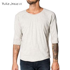 ヌーディージーンズ Tシャツ メンズ Nudie Jeans 七分 Quarter Sleeve Tee 131004 G|i-mixon