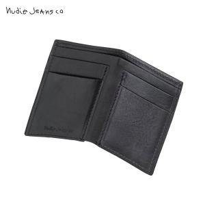 ヌーディージーンズ 財布 正規販売店 HAGDAHL WALLET SADDLE LEATHER BLACK B01 180900 i-mixon