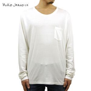 ヌーディージーンズ ロンT メンズ 正規販売店 Nudie Jeans 長袖Tシャツ LONG SLEEVE TEE OFFWHITE WHITE D15S25|i-mixon
