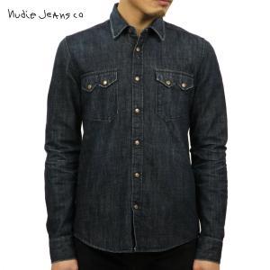 ヌーディージーンズ ジャケット メンズ 正規販売店 Nudie Jeans アウター デニムシャツ Gusten 140091 REPAIR MEDIUM CONTRAST LIGHT DAMAGE D15S25|i-mixon