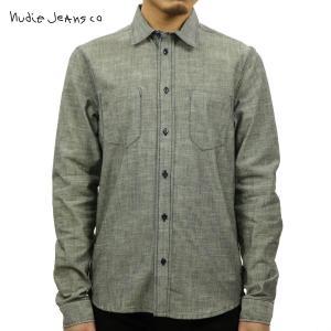 ヌーディージーンズ シャツ メンズ Nudie Jeans 長袖 Ace Organic S&P 140244 Indig|i-mixon