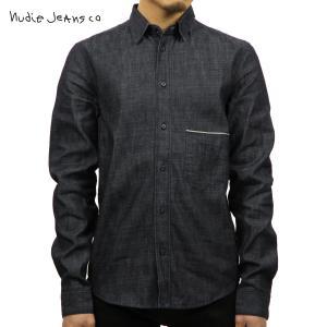 ヌーディージーンズ シャツ メンズ Nudie Jeans 長袖 Ace Organic Dry Selvage 1401|i-mixon