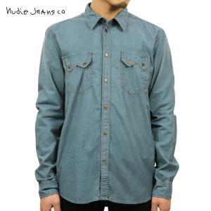 ヌーディージーンズ シャツ メンズ Nudie Jeans 長袖 Gusten Organic Seventies Sha|i-mixon